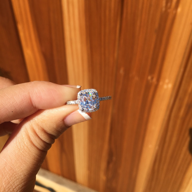 large square diamond engagement ring square diamond wedding rings zoom