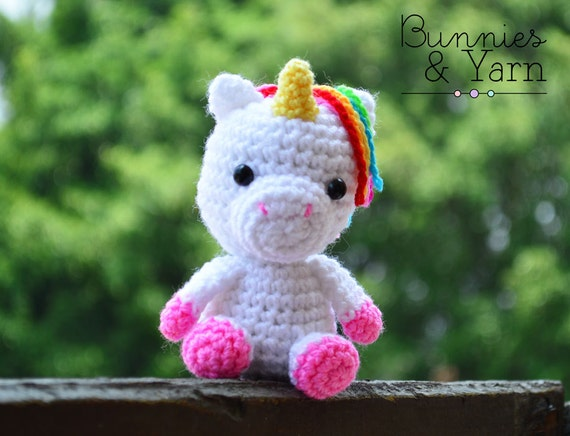 Crochet Baby Unicorn Pattern : Crochet Pattern Baby Unicorn Amigurumi Unicorn by ...