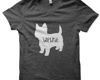 Westie T-Shirt for Men and Women / West Highland White Terrier T-Shirt for Men and Women