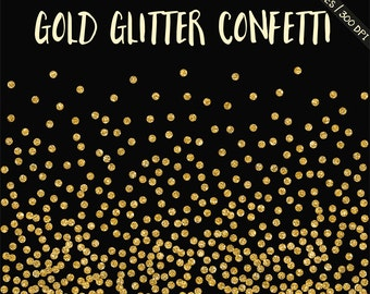 BUY 3 FOR 8 USD, Gold glitter confetti clipart, gold digital confetti, gold glitter borders clipart, gold frame, wedding, sparkle, download,