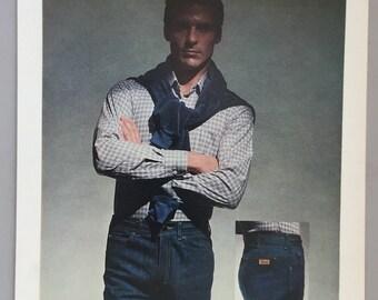 1980 Christian Dior Sport Jeans Print Ad