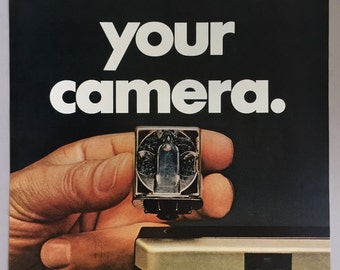 "1968 Sylvania Blue Dot Flashcube Print Ad - ""Winterize your camera"""