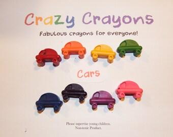 Beep, Beep! Charming set of handmade CAR crayons. Set of 8