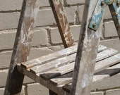 Vintage 1960/70's wooden decorators ladders, Quirky shelving?