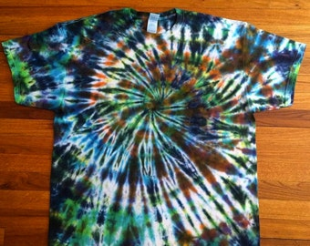 Splattered Spiral Tie Dye T-shirt