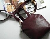 Ruby textured bag, vegan leather handbag, women everyday bag, women crossbody, vegan leather top handle bag