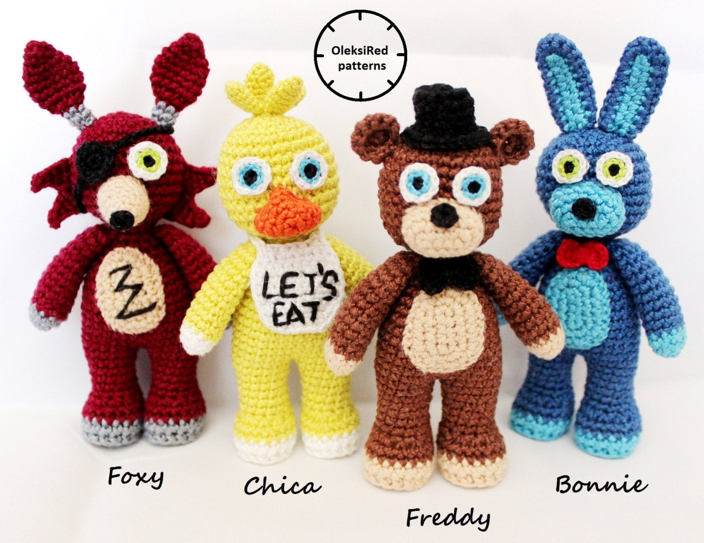 Five Nights At Freddy S Fnaf Crochet Patterns Characters