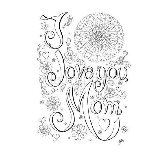Printable Coloring Pages For Adults Love : Coloring page love mom printable adult pages