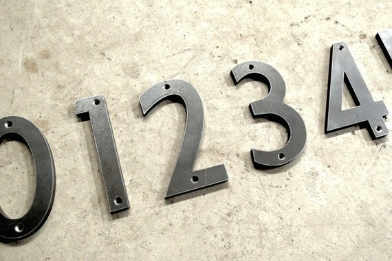 House Numbers Iron Metal Modern Style Extra Thick By