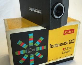 Kodak Instamatic M2 Super 8 Movie Camera, With Original Box