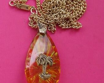 Vintage / Kitsch Palm Tree Necklace