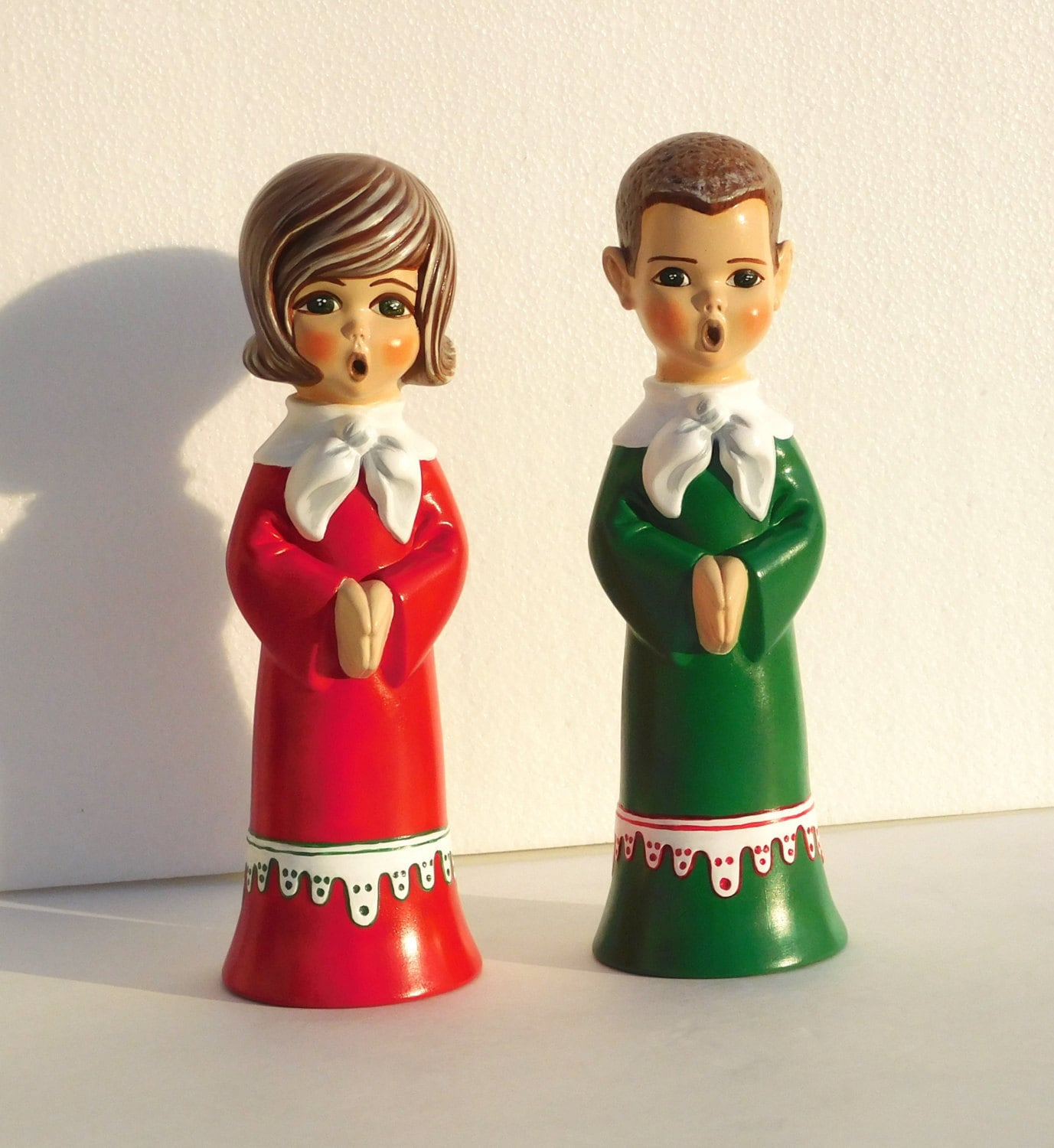 Ceramic Christmas Caroler Figurines Parma By Thepokeypoodle: Kids Choir Ceramic Figurines Singing Boy And By
