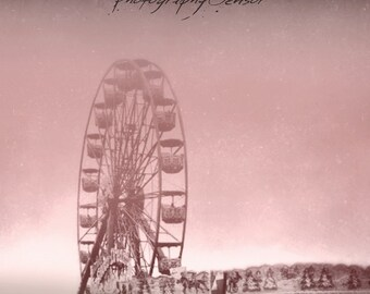 Photography Ferris Wheel, Carnival Ride, Carousel Photography, Fine Art Print, Print Nursery, Deco Vintage, Boho Sticker.