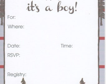 Deer/Outdoors Baby Shower Invitation