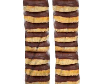 Chocolate Donut Socks   Fun Food Novelty Socks   Stocking Stuffers   Donut Birthday Gift Socks   Donut Lover
