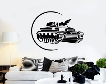 Wall Vinyl Tank War Target Military Army Guaranteed Quality Decal Mural Art 1625dz