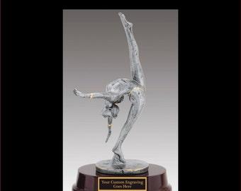 "Ballerina- Ballet Resin Sculpture Award Laser Engraved LARGE 10 1/2"""