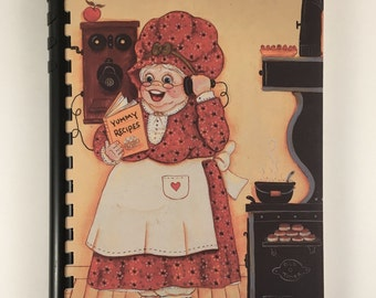 Vintage Cookbook, Sharing Recipes, Spiral Bound Cook Book, 1987 Edition, Fundraising Church Cookbook, Cooking Tips