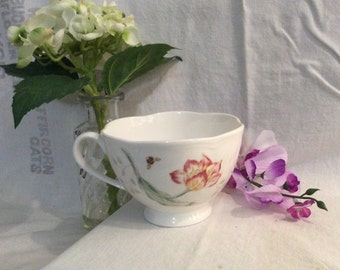 Lenox Butterfly Meadow Teacup - Butterfly Teacup, English Teacup, Lenox Teacup, Butterfly Meadow
