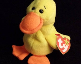 TY Beanie Baby - Duck, Quackers - April 19, 1994