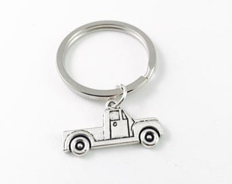 Pickup truck Keychain, truck silver charm, ford pickup Keyring, Country girl gift, Southern Gal gift