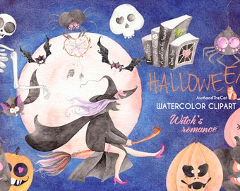 HALLOWEEN WITCH'S ROMANCE clipart