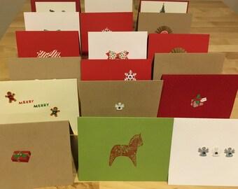 Handmade Minimalist Christmas Cards
