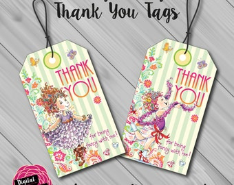 Fancy Nancy Thank You/Favour Tags. Instant Download! Digital File/Printable.