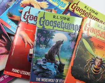 TAKE A CHANCE! Three random Goosebumps books by R.L. Stine - 1990s, spooky, young adult, teen horror, vintage - I choose, you shiver!