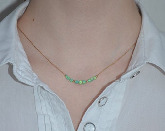 OPAL NECKLACE // Opal Ball Necklace - Opal Jewelry - Kiwi Opal Necklace Gold - Dot Necklace - Opal Bead Necklace - Opal Charm Necklace