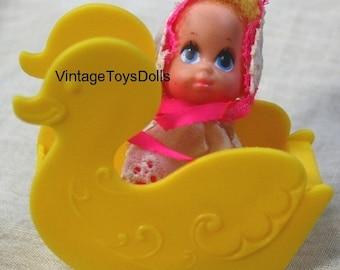 """Vintage Mattel Liddle Kiddles """"Liddle Baby Kiddles"""" Doll """"Teeter-Time"""""""