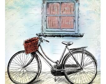Bicycle Illustration (Print)