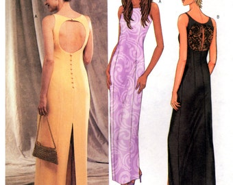 2002 Butterick 3450 Close-Fitting Evening Dress with Princess Seams and Back Interest, Uncut, Factory Folded Sewing Pattern Plus Size 18-22