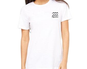 Aquarius T-Shirt, Aquarius Tee, Zodiac Tee
