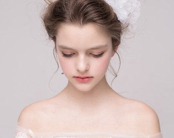 Wedding flower clips , Floral Headpiece, Silk Flower Headpiece, Bridal hair accessories, Wedding hair flower, Bridal hair clips