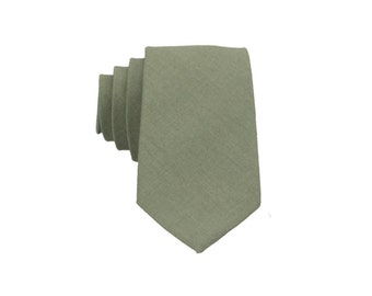 Sage Green Linen Tie.Wedding Necktie.Sage Green Groomsmen Tie. Mens Skinny Tie.Favors.Gifts