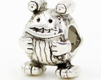 Baby FROG Charm bead Genuine Sterling Silver