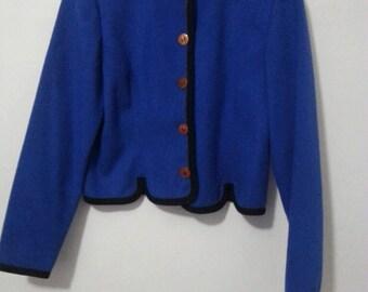 Royal blue chic blazer
