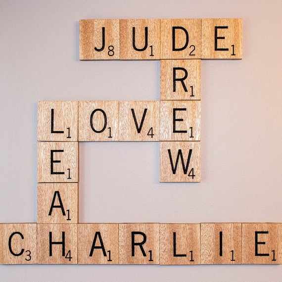Custom Carved Wooden Scrabble Tiles By Trinitytimber On Etsy