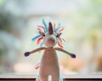 Handmade crochet unicorn