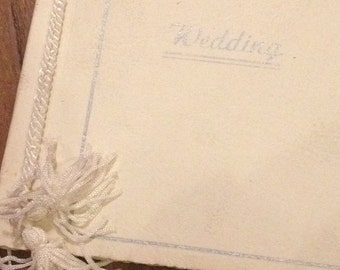 Genuine Vintage Wedding Photograph Album. Never Used & Dates From The 1950's.
