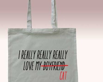 Canvas Tote, Shopping bag, Cat lovers gift, Funny tote bag, Shopping bag, Market Bag, Market Tote Bag, Cotton Bag, Reusable shopping bag