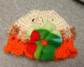Hand Crochet Hat for Little Girls