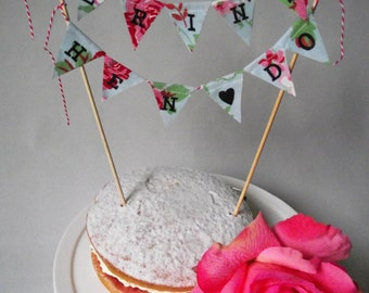 Personalized Hen Do Cake Topper Buning