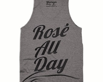 Rose All Day Tank Top - Funny Tank Top - Work Out Tank  - Funny Fitness Tank