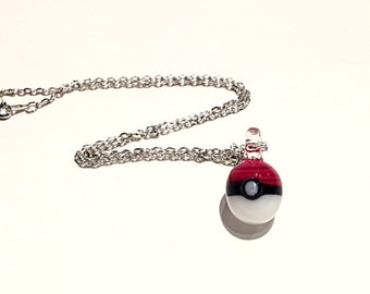 Glass Pokéball Necklace/Glass Pendant