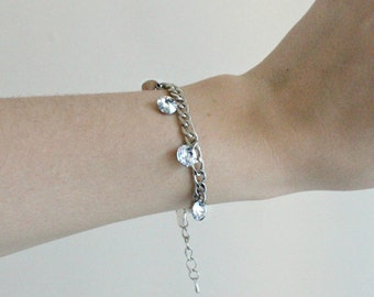 "The ""Crystal"" Dangly Bracelet by SHIKKU SHIKKU"