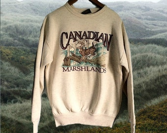 Elk Crewneck // Deer Sweatshirt // Canadian Marshlands // Embroidered