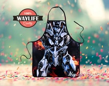 50% OFF Mens Transformers Megatron Aprons Movie Kitchen Waterproof Cool Geekery Women Creative Cooking BBQ Personalized Joke Boyfriend Gifts