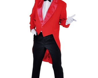 Gents Red Tailcoat - Circus / Ringmaster etc